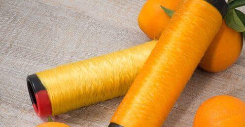 Tissu en peau d'orange et revalorisation des déchets