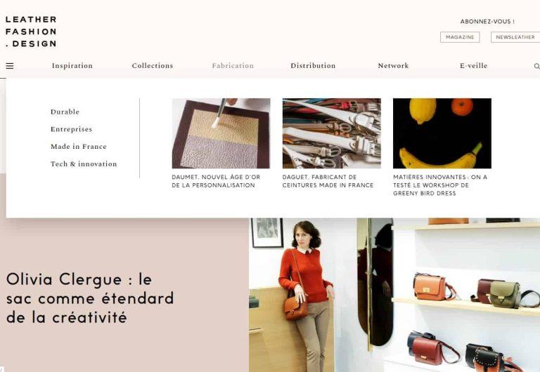 Le mag' Leather Fashion Design
