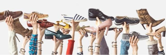 Sélection de chaussures en matières recyclées